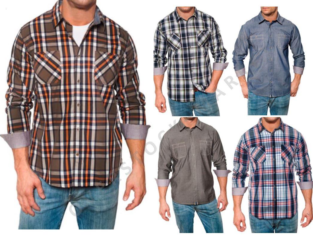 Men 39 s weatherproof 1948 vintage classic woven long sleeve for Weatherproof vintage men s lightweight flannel shirt