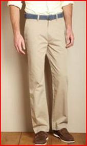 NAUTICA MEN'S 100% COTTON TWILL KHAKI PANT DRESS & CASUAL
