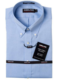 KIRKLAND SIGNATURE NON-IRON DRESS SHIRT BUTTON DOWN COLLAR