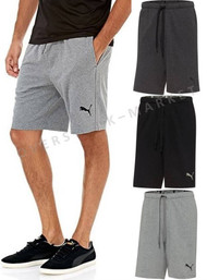 MENS PUMA SWEAT LOGO BERMUDA SHORTS