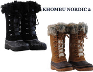 WOMEN'S KHOMBU NORDIC 2 THERMOLITE WINTER SNOW BOOTS!
