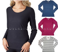 Womens Weatherproof 32 Degrees Heat Long Sleeve Scoop Neck Base Layer