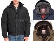MEN'S WEATHERPROOF ULTRA OXFORD HOODED BOMBER JACKET