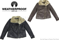 WOMEN'S WEATHERPROOF FAUX ASYMMETRIC MOTO JACKET