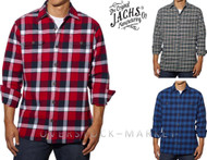 MENS JACHS ORIGINAL BRAWNY FLANNEL PLAID SHIRT