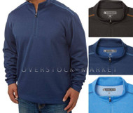 PEBBLE BEACH PERFORMANCE GOLF 1/4 ZIP PULLOVER! PERFORMANCE FABRIC!