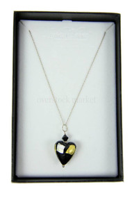 Lucky Clover Murano Glass Designs Vicenza Heart Necklace