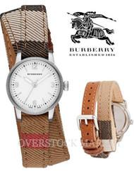 BURBERRY THE UTILITARIAN BURBERRY HOUSE CHECK CANVAS WATCH! BU7849