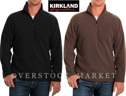 Men's Kirkland Signature Polartec Micro Fleece Pullover ...