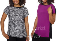 Ellen Tracy Short Sleeve Dolman Top