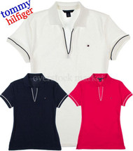 WOMENS TOMMY HILFIGER EMMA CLASSIC POLO V-NECK SHIRT!