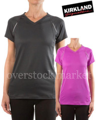 WOMEN'S KIRKLAND SIGNATURE ACTIVE YOGA TEE ATHLETIC TEE TSHIRT 2015
