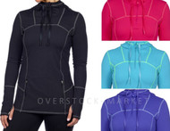 WOMEN'S KIRKLAND SIGNATURE 1/4 ZIP HOODED ACTIVE ATHLETIC JACKET