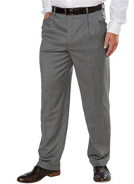 709655-KS GARBADINE WOOL PLEATED FRONT DRESS PANT
