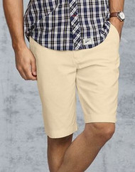 MENS TOMMY HILFIGER TOMMY CLASSIC KHAKI CHINO FLAT FRONT SHORTS
