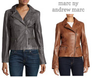 WOMEN'S MARC NEW YORK FAUX LEATHER VINTAGE STYLE MOTO JACKET!