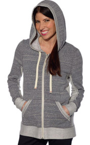 WOMEN'S ABBOT & MAIN  FULL ZIP CONTEMPORARY FIT HOODIE