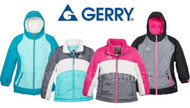 GIRLS GERRY 3 IN 1 SYSTEMS JACKET W/ BEANIE! WIND & WATER RESISTANT