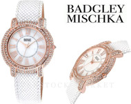 Badgley Mischka BA/1354WMWT Swarovski Crystal Accented Bracelet Watch
