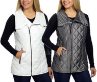 WOMENS MARC NEW YORK ANDREW MARC QUILTED VEST! ASYMMETRICAL ZIP! VARIETY!