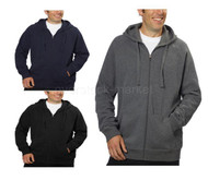 MENS FILA FULL ZIP HOODED SOFT FLEECE SWEATSHIRT WITH MEDIA POCKET!