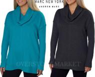 WOMENS MARC NEW YORK ANDREW MARC PERFORMANCE FLEECE COWL NECK TUNIC
