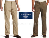 MENS DOCKERS COMFORT CARGO COMFORT WAIST CLASSIC FIT FLAT FRONT PANT