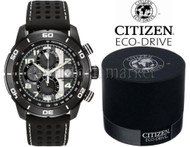 Mens Citizen CA0467-46E Eco-Drive Black Ion Plated Chronograph Watch