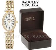 Badgley Mischka BA/1356WMGB Swarovski Crystal Accented Watch