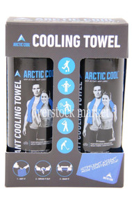 ARCTIC COOL COOLING TOWEL 2 PACK STAYS COOL FOR HOURS SPORTS TOWEL MESH BLUE