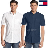 MENS TOMMY HILFIGER COTTON CLASSIC FIT BUTTON FRONT WOVEN SS SHIRT