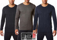 Mens Weatherproof 32 Degrees Heat Performance Mesh Base Layer Crew Neck Top