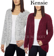 WOMENS KENSIE OPEN FRONT EYELASH CARDIGAN! SUPER SOFT!