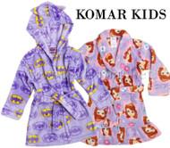 GIRLS KOMAR KIDS VELVET FLEECE FLAME RESISTANT ROBE !