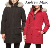 WOMENS ANDREW MARC QUILTED INNER LINING SNORKEL PARKA JACKET