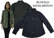 1014065-WOMEN'S BUFFALO DAVID BITTON LIGHTWEIGHT MILITARY JACKET! ROLL TAB!