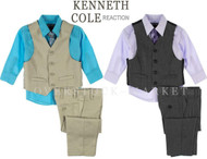 BOYS KENNETH COLE REACTION DRESS SUITS OUTFITS! SEVERAL PIECE SETS