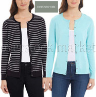 WOMEN'S JONES NEW YORK CLASSIC BUTTON FRONT CARDIGAN SWEATER