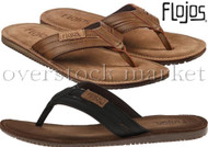 MEN'S FLOJOS ALONZO FLIP FLOPS SANDALS THONGS! COMFORT FOOTBED!