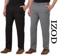 MENS IZOD STRAIGHT NON-IRON FLAT FRONT STRETCH CHINO PANT!