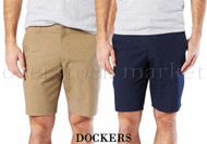 MENS DOCKERS COMFORT UTILITY STRAIGHT FIT FLAT FRONT SHORT!