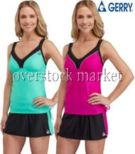 WOMEN'S GERRY 2 PIECE COLORBLOCK SWIMSUIT! SWIM SKORT!