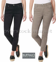 "WOMEN BUFFALO DAVID BITTON ""AUBREY"" MIDRISE SUPER SOFT STRETCH CAPRI"