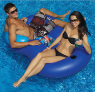 Pool Inflatable Cooler Combo with Drink Holders and Ice Cooler