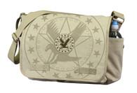 Rothco Vintage Canvas Messenger Bag w/ Exploded Army Eagle Print