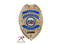 Rothco Deluxe Gold Bail Enforcement Agent Badge
