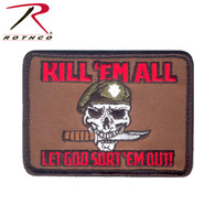 Rothco Kill Em All Let God Sort Em Out Morale Patch