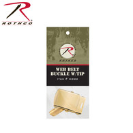 Rothco G.I. Type Web Belt Buckle And Tip Pack
