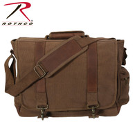 Rothco Vintage Canvas Pathfinder Laptop Bag With Leather Accents