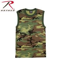Rothco Woodland Camo Muscle Shirt